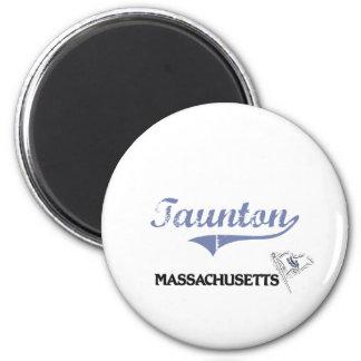 Taunton Massachusetts City Classic 6 Cm Round Magnet