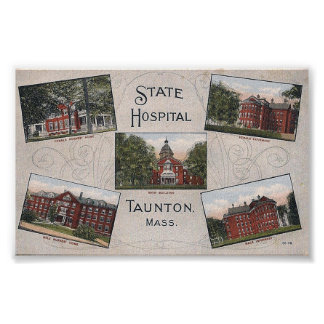 Taunton State Hospital Multi-View Postcard Print