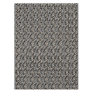 Taupe and Gray Modern Paisley Tablecloth