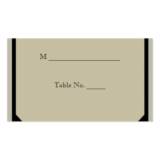 Taupe and Teal Seaside Wedding Place Cards Business Card Template ...