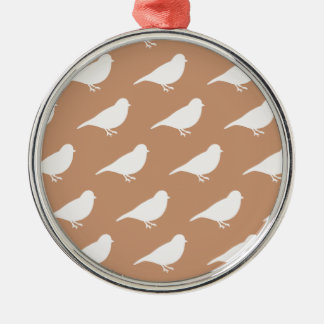 Taupe Birds Christmas Ornament