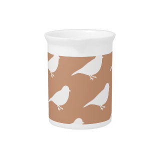 Taupe Birds Pitcher