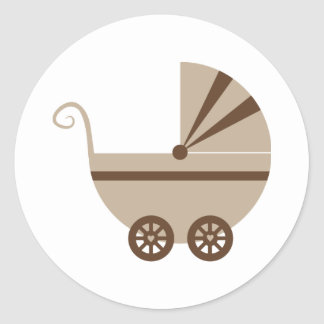 Taupe Brown Buggy Stickers
