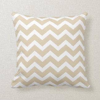 Taupe Chevron Stripe Pillow