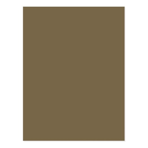 Taupe Coffee Color Background Customizable Post Cards