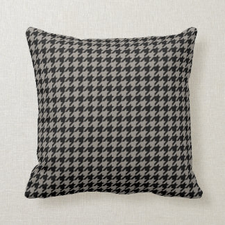 Taupe color houndstooth pattern throw pillow