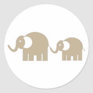 Taupe Elephants Stickers