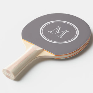 Taupe Gray High End Colored Personalized Ping Pong Paddle