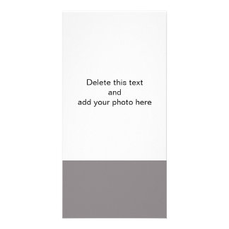 Taupe Gray High End  Solid Colored Photo Card Template