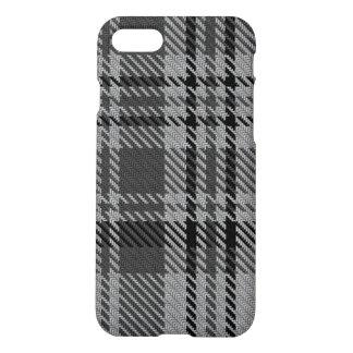 Taupe Grey Black Tartan Plaid iPhone 8/7 Case