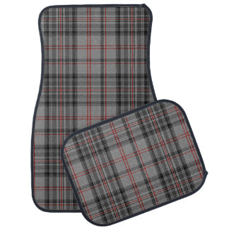 Taupe Grey Red Black Large Tartan Plaid Car Mat