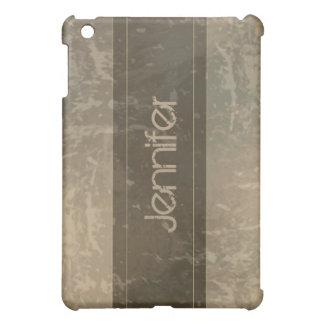 Taupe Grunge Marble Distressed  iPad Mini Cases
