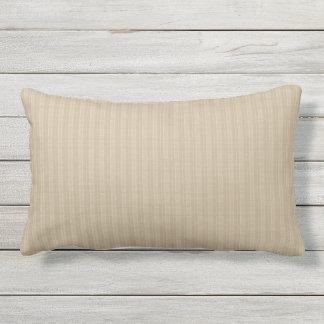 Taupe Khaki Corduroy Stripe Outdoor Lumbar Pillow