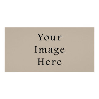 Taupe Neutral Color Trend Blank Template Personalised Photo Card