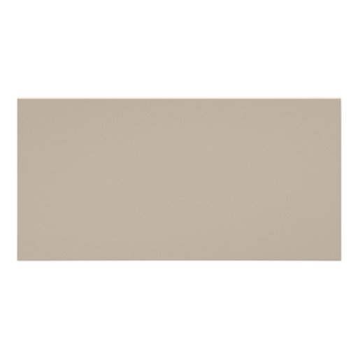 Taupe Neutral Color Trend Blank Template Customized Photo Card