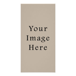 Taupe Neutral Color Trend Blank Template Photo Card