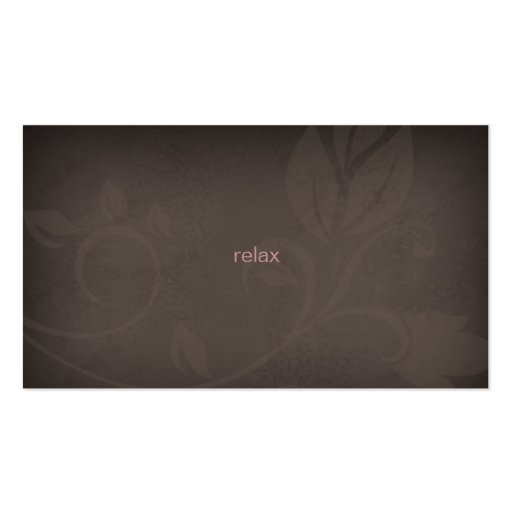 Taupe & Pink Spa business card