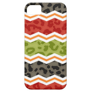 Taupe, Red, Green, and Orange Leopard iPhone 5 Cover