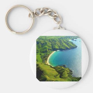 Taupo Bay, New Zealand Key Chains