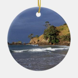 Tauranga Bay Pohutukawa trees coast New Zealand Christmas Ornament