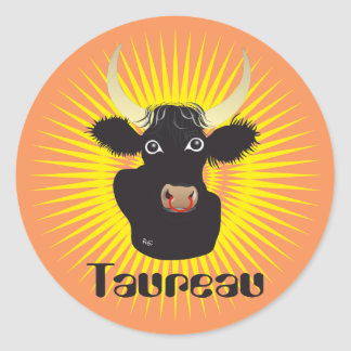 Taureau 21 avril outer 20 May Autocollants Round Sticker