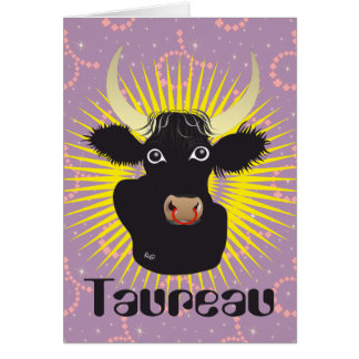 Taureau 21 avril outer 20 May Cartes de vœux Greeting Card
