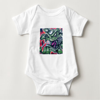 Taurian - Evil Plant Spray paint Art Graffiti Baby Bodysuit