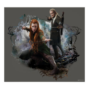 TAURIEL™ and LEGOLAS GREENLEAF™ Graphic Poster