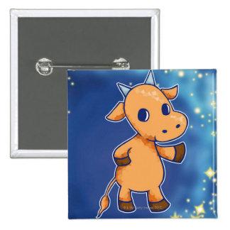Taurus 15 Cm Square Badge