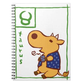 Taurus 3 spiral notebook