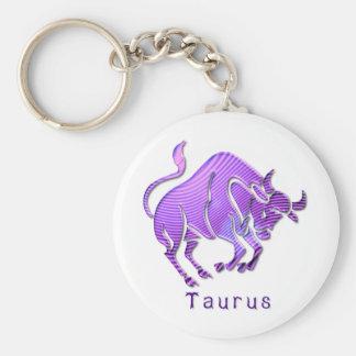 taurus-6 basic round button key ring