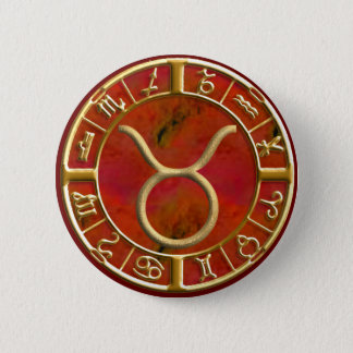 Taurus 6 Cm Round Badge