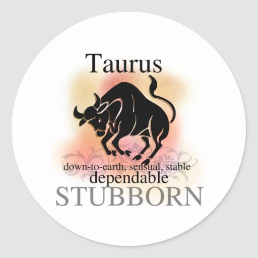 Taurus About You Stickers