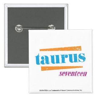 Taurus Aqua 15 Cm Square Badge