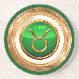 Taurus Astrological Sign Sandstone Coaster
