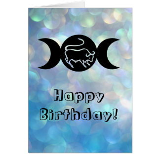 Taurus astrology sun sign zodiac birthday card