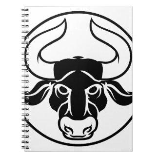 Taurus bull horoscope astrology zodiac sign icon notebooks