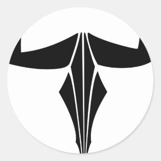 Taurus Bull Round Sticker
