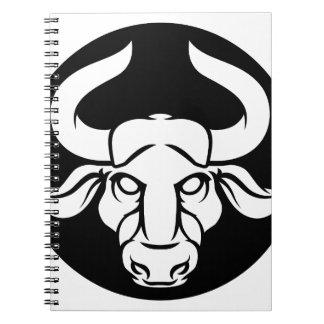 Taurus Bull Zodiac Astrology Sign Spiral Notebook