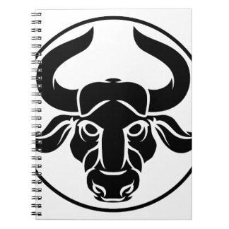 Taurus Bull Zodiac Horoscope Astrology Sign Spiral Notebook