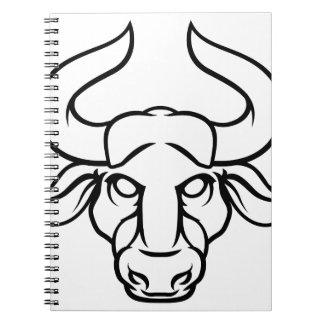Taurus Bull Zodiac Horoscope Sign Notebook
