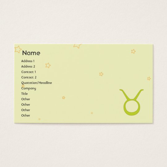 Taurus - Business Business Card