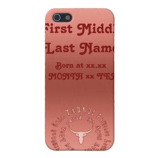 Taurus Characteristics Personalise New Born Baby iPhone 5 Cover