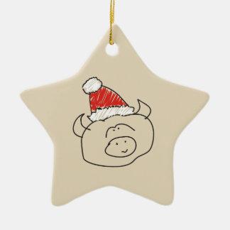 Taurus Christmas Funny Astrology Star Red Cool Christmas Ornament