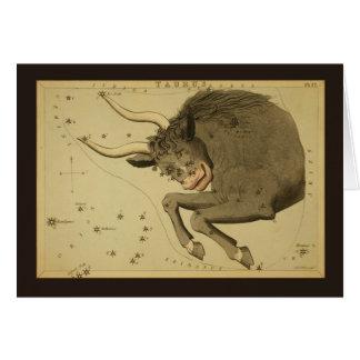 Taurus Constellation Card