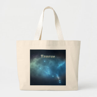 Taurus constellation large tote bag