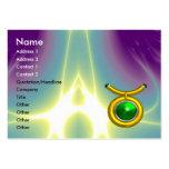 TAURUS ,Emerald yellow black green Business Card Template