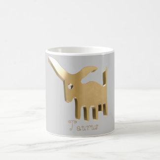 Taurus golden sign coffee mug