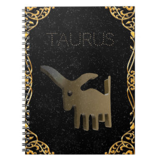 Taurus golden sign spiral note books