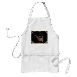 Taurus golden sign standard apron